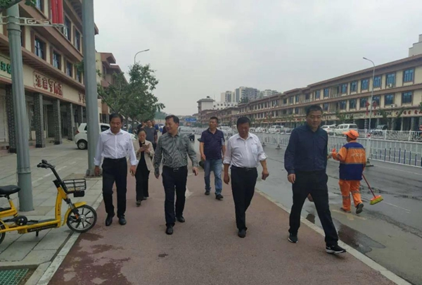 汝南县领导带队督导创建文明城市工作开展情况